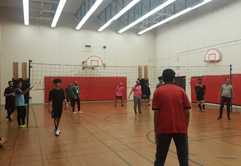 YITC members participate in sport activities at Victoria Park, North York